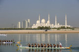 Sheikh Zayed Grand  Mosque - course de Dragon Boats a Abu Dhabi - Emirats Arabes Unis