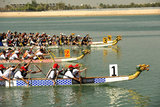 course de Dragon Boats a Abu Dhabi - Emirats Arabes Unis